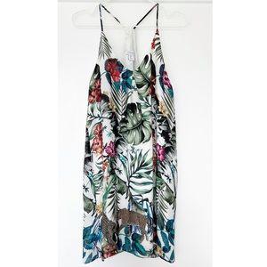 CAROLINA BELLE Safari Tropical Print Shift Dress